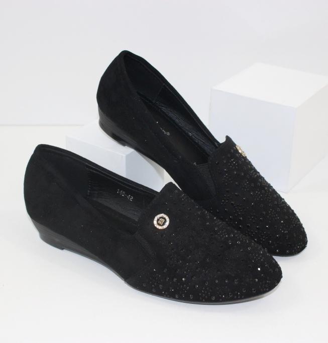 Женские замшевые туфли 148-42 - комфортные туфли без каблука купить в интернете