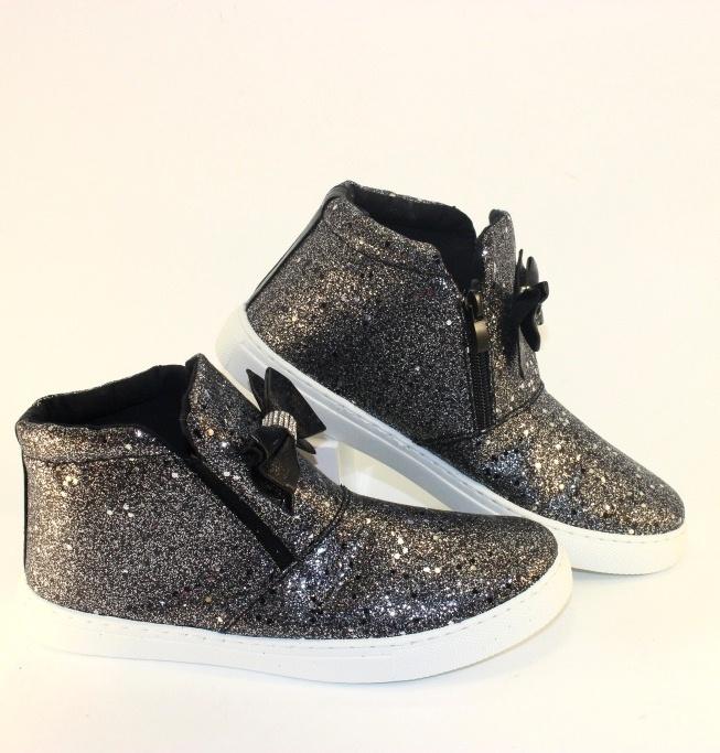 Модные женские ботинки с блестками на сайте обуви городок