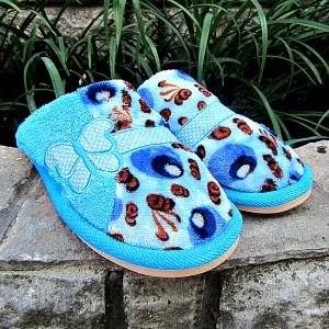 Купить домашние тапочки женские FASHION 2060 голубой. Тапочки - Городок