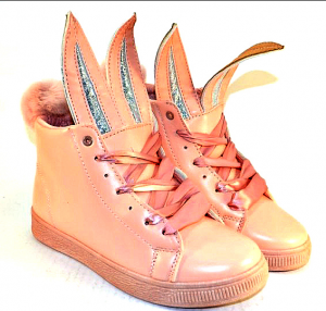 Молодёжные ботинки артикул LXC7484 розовый - купить полуботинки женские недорогие в интернете