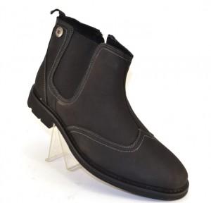 Кожаные зимние мужские ботинки артикул 4682 черный - купить зимняя обувь мужская в интернет магазине