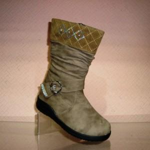 Весенние сапоги для девочек артикул 1101 хаки - купить в интернет магазин обуви в украине