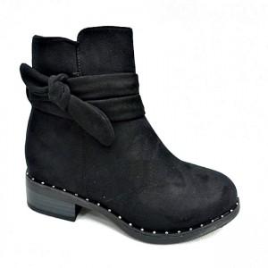 Женские замшевые ботинки осень-весна артикул 17005-16 черный - ботинки по скидке купить на сайте обуви