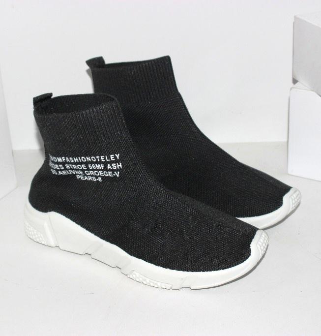 Жіночі кросівки шкарпетки червоні і чорні