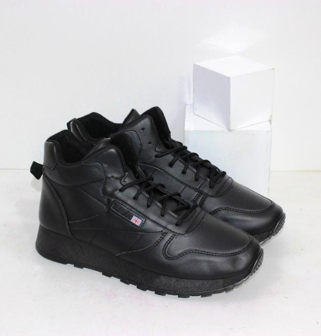 Купить чёрные высокие кроссовки на шнурке и молнии на осень