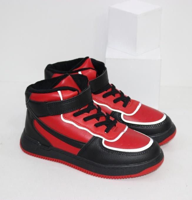 Купить красные высокие кроссовки хайтопы для мальчиков размеры 31 32 33 34 35 36 37