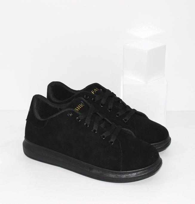 Купить недорого модные женские кроссовки из ЭКО замши на толстой подошве