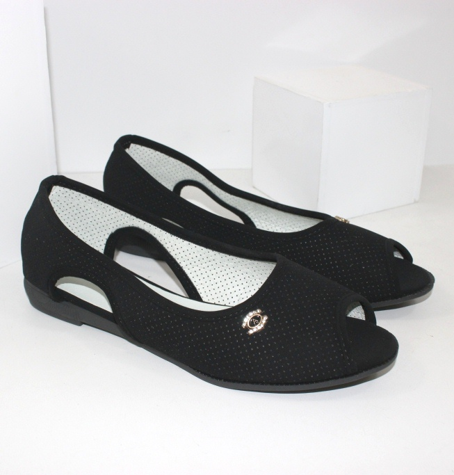 Жіноча літні балетки з відкритим носком на сайті взуття Городок