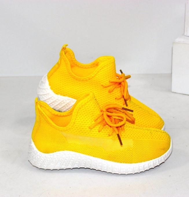 Жовті текстильні кросівки для діток та їхніх мам розміри від 20 до 41