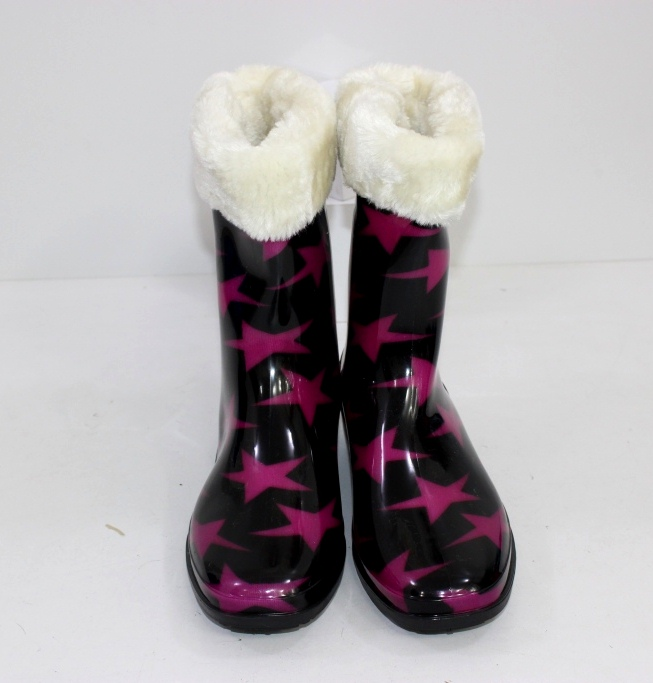 жіночі гумові чоботи на хутрі