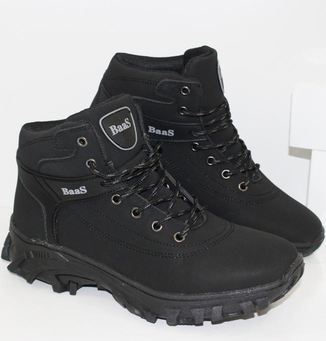 Мужские зимние черные ботинки 299-1A - купить зимняя обувь мужская в интернет магазине