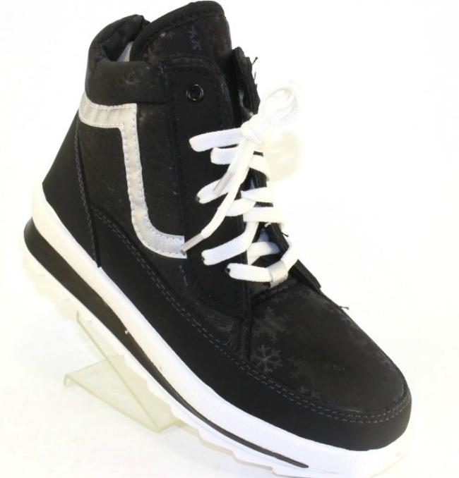 Жіночі зимові черевики чорні 117-чорні
