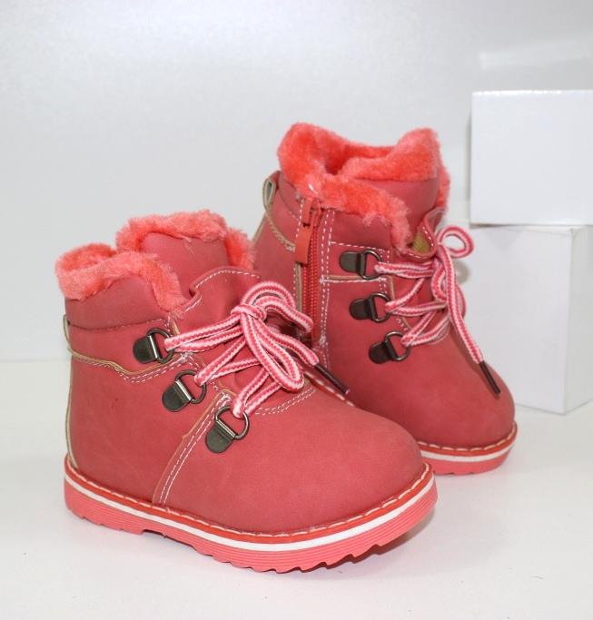 Красивые и модные ботиночки для девочек 7250 korall - купить теплые угги детские, термо сапожки
