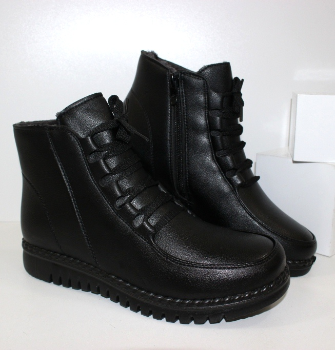 Комфортные зимние ботинки C27709-1- зимние ботинки на танкетке купить в недорогом интернете