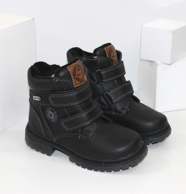 Зимние ботинки для мальчиков на липучках