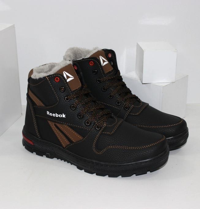 Чоловічі зимові черевики на шнурках і блискавки