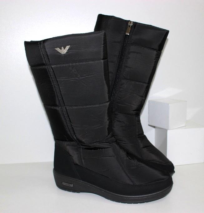 Дутики женские в черном цвете на сайте обуви Городок